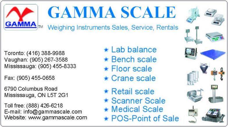 Gamma Scale Industrial Scales Retail Scales Laboratory